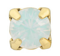 Стразы в золотых цапах Swarovski 17704 Gold White Opal