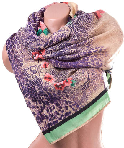 Замечательный женский хлопковый шарф 176 на 75 см.  ETERNO (ЭТЭРНО) ES1405-3-2