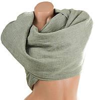 Прекрасный женский хлопковый шарф 180 на 142 см. ETERNO (ЭТЭРНО) ES1405-6-5, зеленый