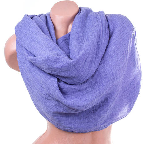Замечательный женский хлопковый шарф 180 на 140 см. ETERNO (ЭТЭРНО) ES1405-6-1, фиолетовый