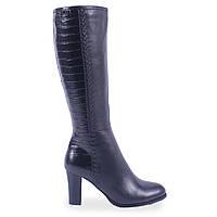 Модные женские туфли C.Clouds (демисезонные, кожаные, черные, на удобном каблуке, есть резинка, на замуке)