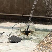 Водяной насос фонтан 6В 0,7М 150л/ч центробежный электрический погружной с солнечной батареей
