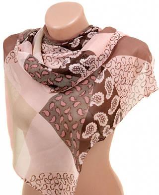 Отличный женский шарф 50 на 160 из легкого шифона 10112 C5