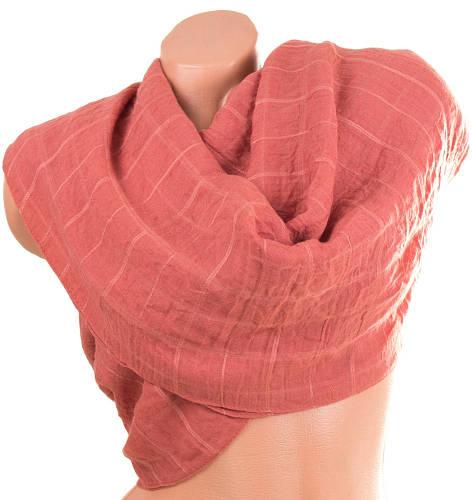 Эффектный женский хлопковый шарф 180 на 122 см. ETERNO (ЭТЭРНО) ES1405-14-2 оранжевый