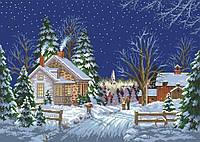 Рисунок на канве для вышивки нитками мулине 01153 Зимний вечер