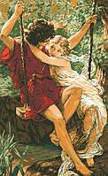 Рисунок на канве для вышивки нитками мулине 01183 Первая любовь