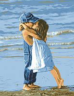 Рисунок на канве для вышивки нитками мулине 01193 Первый поцелуй