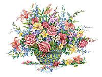 Рисунок на канве для вышивки нитками мулине 20363 Роскошный букет