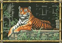 Рисунок на канве для вышивки нитками мулине 20433 Тигр