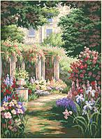 Рисунок на канве для вышивки нитками мулине 30503 Аллея цветов