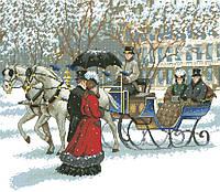Рисунок на канве для вышивки нитками мулине 30513 Зима