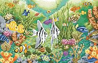 Рисунок на канве для вышивки нитками мулине 50733 Подводный мир