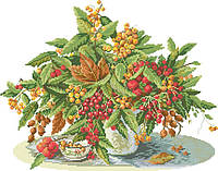 Рисунок на канве для вышивки нитками мулине 50843 Осенний букет