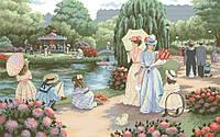Рисунок на канве для вышивки нитками мулине 50903 В парке