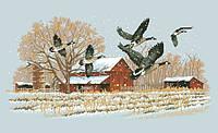 Рисунок на канве для вышивки нитками мулине 50923 Зимний полет