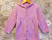 Пальто детское для девочки - ручная работа