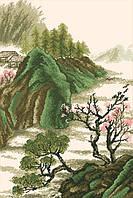 Рисунок на канве для вышивки нитками мулине 71433 Китайский пейзаж