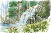 Рисунок на канве для вышивки нитками мулине 71493 Водопад