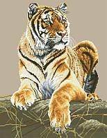 Рисунок на канве для вышивки нитками мулине 81733 Тигрица