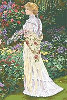 Рисунок на канве для вышивки нитками мулине 50993 Женщина в саду