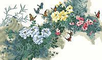 Рисунок на канве для вышивки нитками мулине 61303 Весна