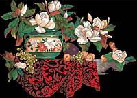 Рисунок на канве для вышивки нитками мулине 61323 Кружева