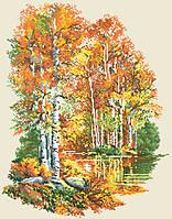 Рисунок на канве для вышивки нитками мулине 61363 Осень золотая