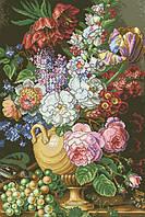 Рисунок на канве для вышивки нитками мулине 61373 Букет в вазе
