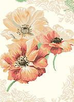 Рисунок на канве для вышивки нитками мулине 62303 Солнечные анемоны