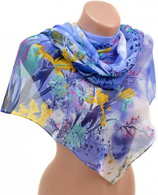 Обворожительный женский шарф 50 на 160 из легкого шифона 10112 G1