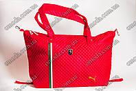 Большая тканевая женская сумка Ferrari