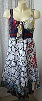 Платье женское летнее легкое сарафан хлопок миди бренд NKJ р.46 6131а