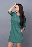 Актуальное короткое платье зеленого цвета р 42-48