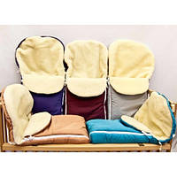 Конверт зимний на овчине для малышей в коляску, санки