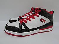 Мужские кроссовки Athletic баскетбол (11109-2) белые с черным и красным код 0156А