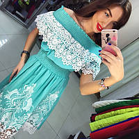 Женское красивое хлопковое платье с прошвой (2 цвета)