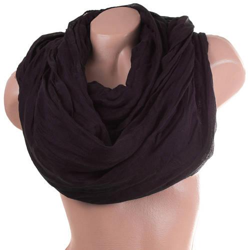 Женский элегантный хлопковый шарф 186 на 92 см. ETERNO (ЭТЭРНО) ES1405-16-4 черный