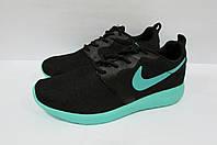 Кроссовки женские Nike черные с  бирюзой (7172-2)  код 0175 А