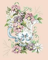 Рисунок на канве для вышивки нитками 62404 Ваза с цветами