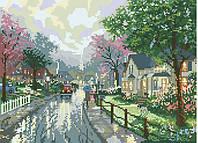 Рисунок на канве для вышивки нитками 81924 Улица под дождем