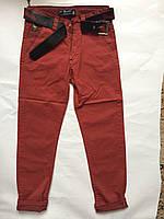 Детские штаны коралловые, одежда для мальчиков 122-146 и 152-176
