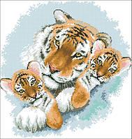 Рисунок на канве для вышивки нитками 61352 Тигры