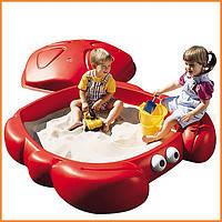 Детская Песочница Краб с крышкой Step2 7405 Step 2 Песочница Краб