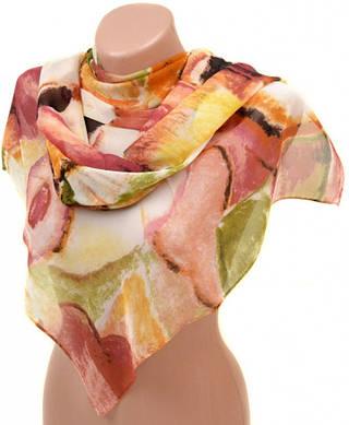 Женский яркий шарф 50 на 160 из легкого шифона 10112 K1