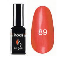 Гель-лак Коdi №89 (жемчужно-оранжевый с золотисто-желтым отливом), 7 мл