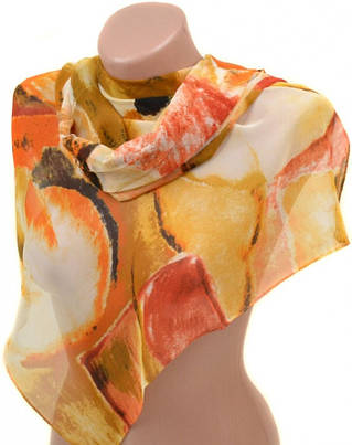 Комфортный женский шарф 50 на 160 из легкого шифона 10112 K3