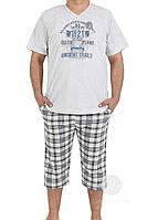 Костюм мужской для дома и отдыха из футболки и капри