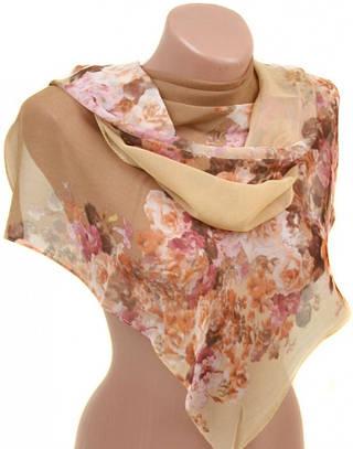 Изумительный женский шарф 50 на 160 из легкого шифона 10112 M1