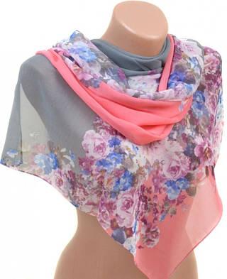 Удивительный женский шарф 50 на 160 из легкого шифона 10112 M3