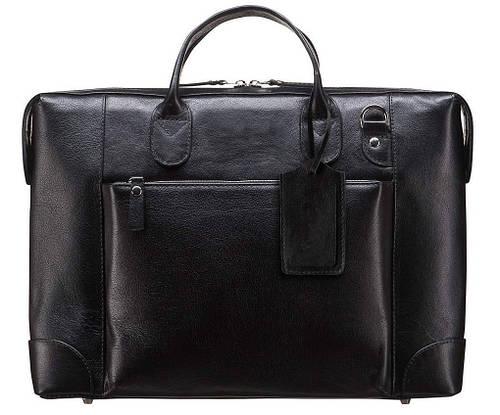 Кожаная мужская сумка BLAMONT BN006A черный